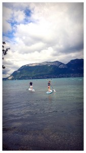 Stand up paddle 16 aout lac d'Annecy