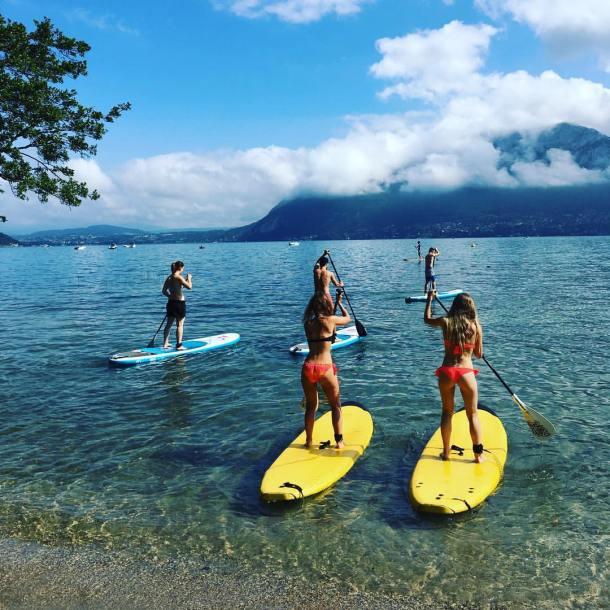 Découvrir le stand up paddle sur le lac d'Annecy