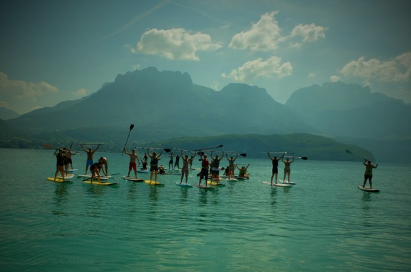 groupes NCY SUP lac d'Annecy