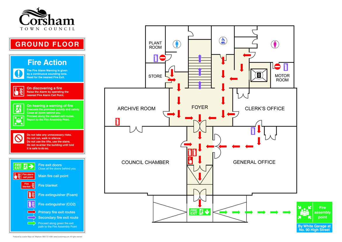 example of fire exit diagram 2005 club car precedent wiring evacuation plans escape and assembly