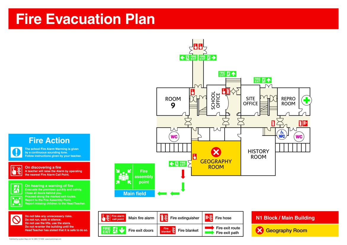 emergency plan diagram 1999 honda civic ex fuse box fire evacuation free engine image for user