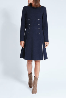 panoply cedric charlier robe evasee double boutonnage