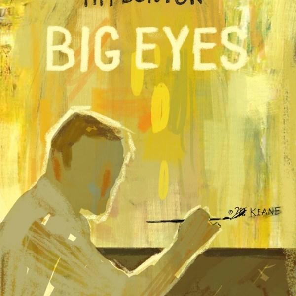 Big eyes Tim Burton locandina arte