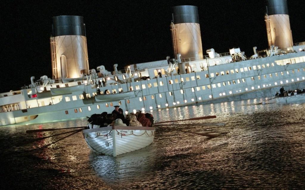 Titanic naufragio nel film