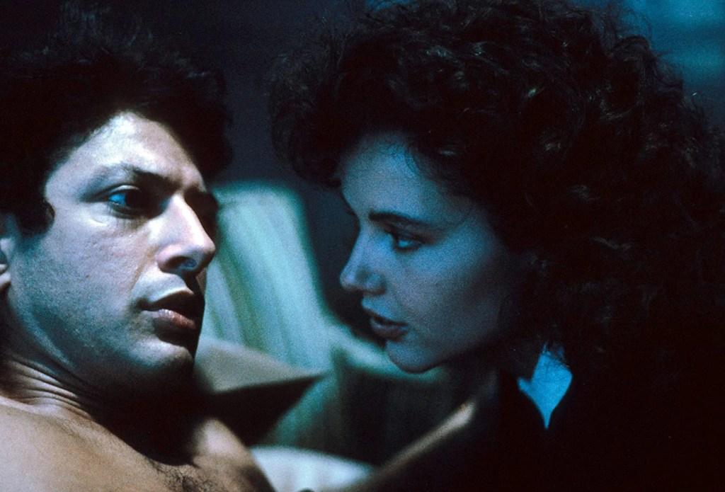 Geena Davis e Jeff Goldblum in La Mosca (1986)