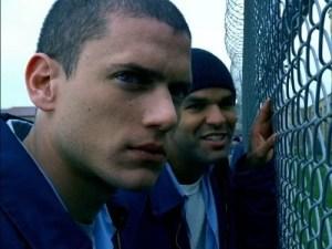 Wentworth Miller and Amaury Nolasco in Prison Break (2005)