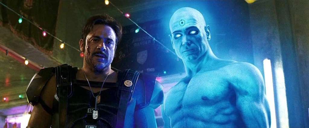 Il Comico e Dr. Manhattan in una scena del film - Watchmen