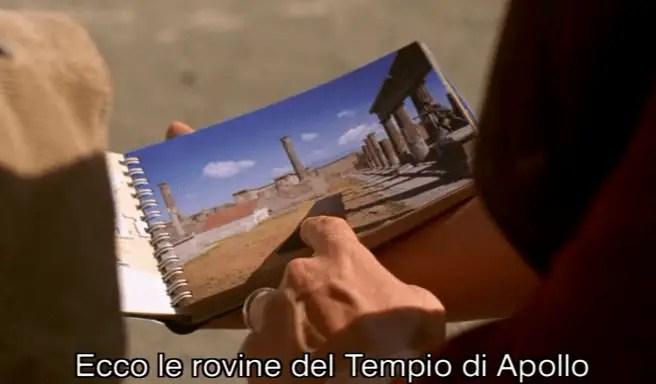 Le rovine del tempio di Apollo in Un film parlato