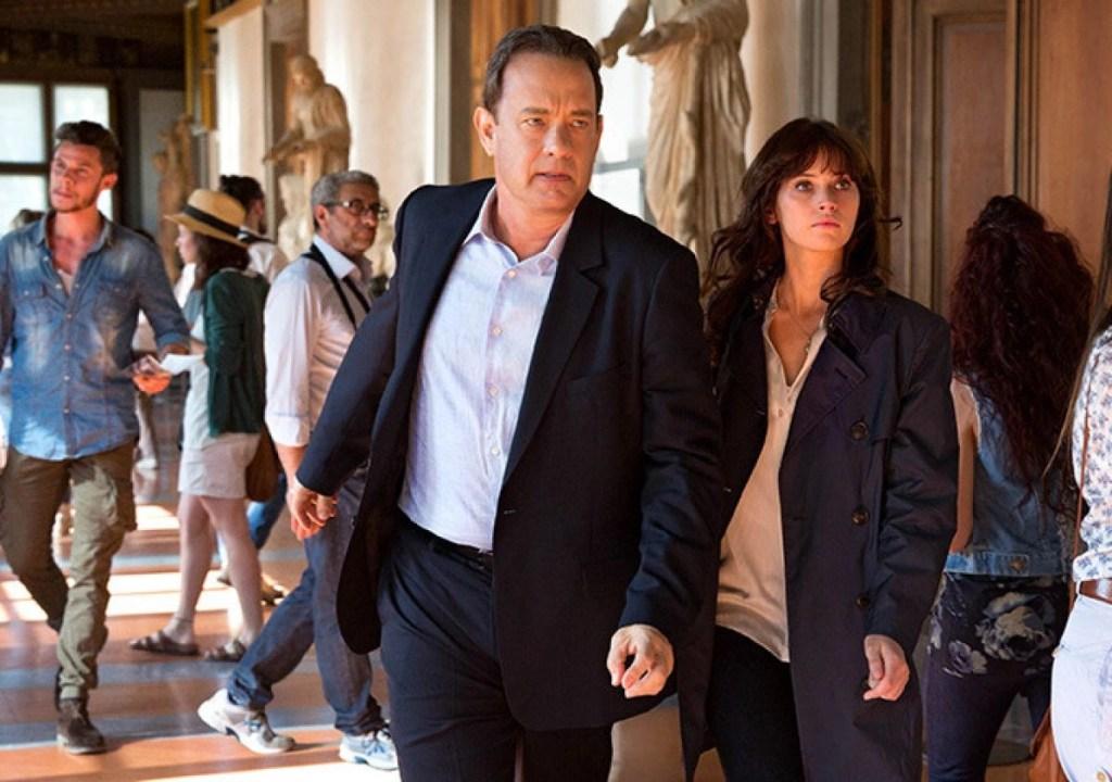 Tom Hanks e Felicity Jones in Inferno