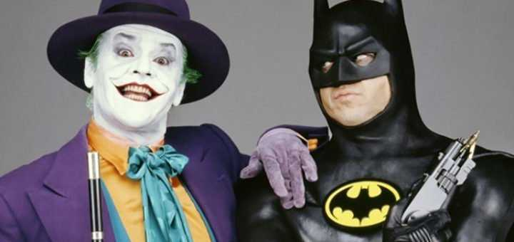 Jack Nicholson (Joker) e Michael Keaton (Batman) - Batman (1989)