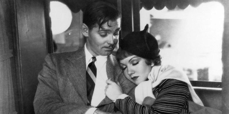 Clark Gable e Claudette Colbert in Accadde una notte (1934)