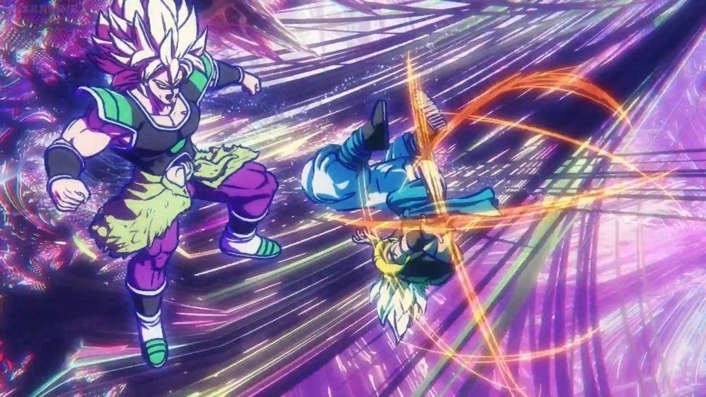 Gogeta vs Broly in una scena del film - Dragon Ball Super : Broly