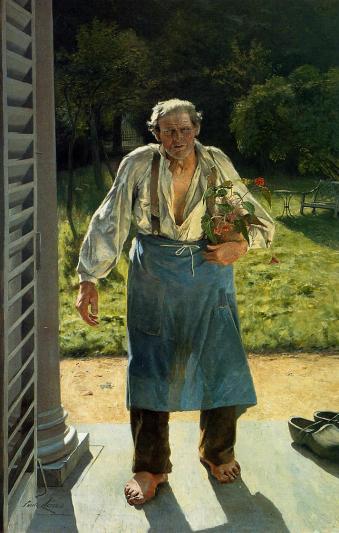 Émile Claus, Le Vieux Jardinier, 1885