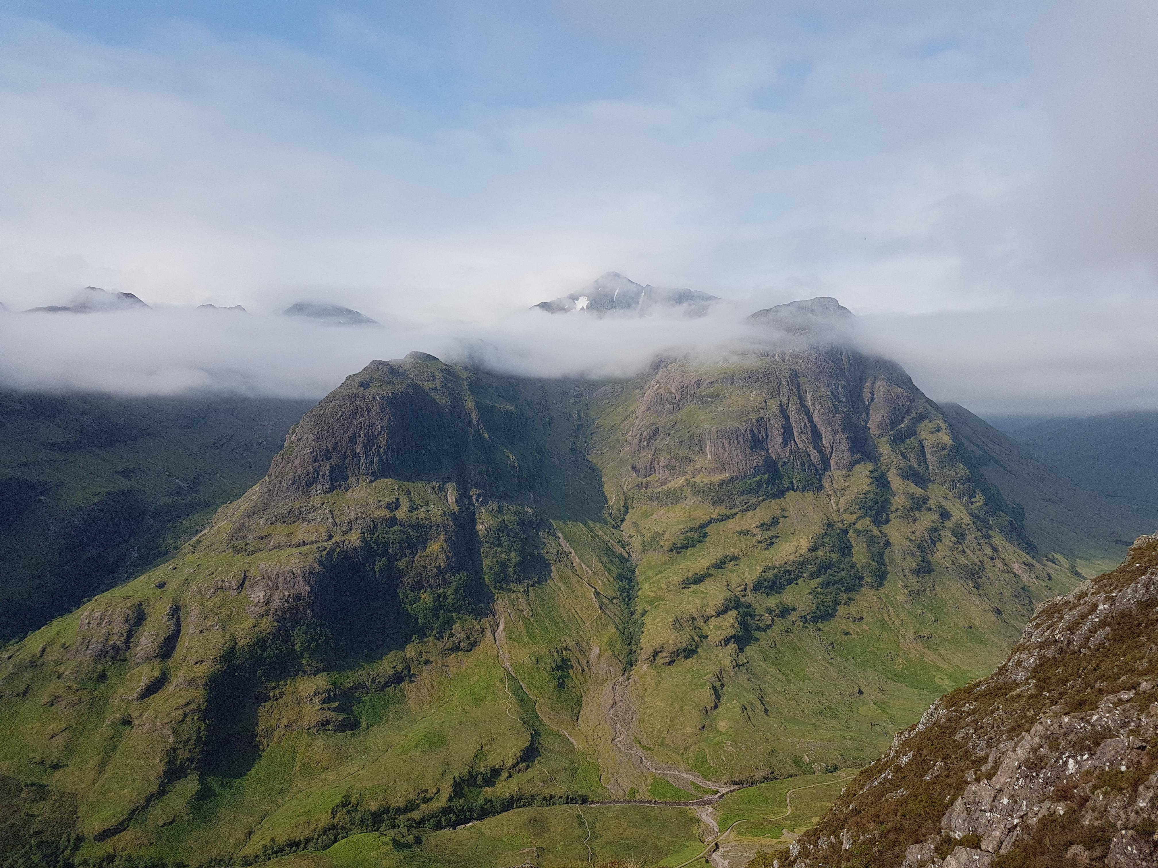 Spectacular views on an Aonach Eagach Guided scramble