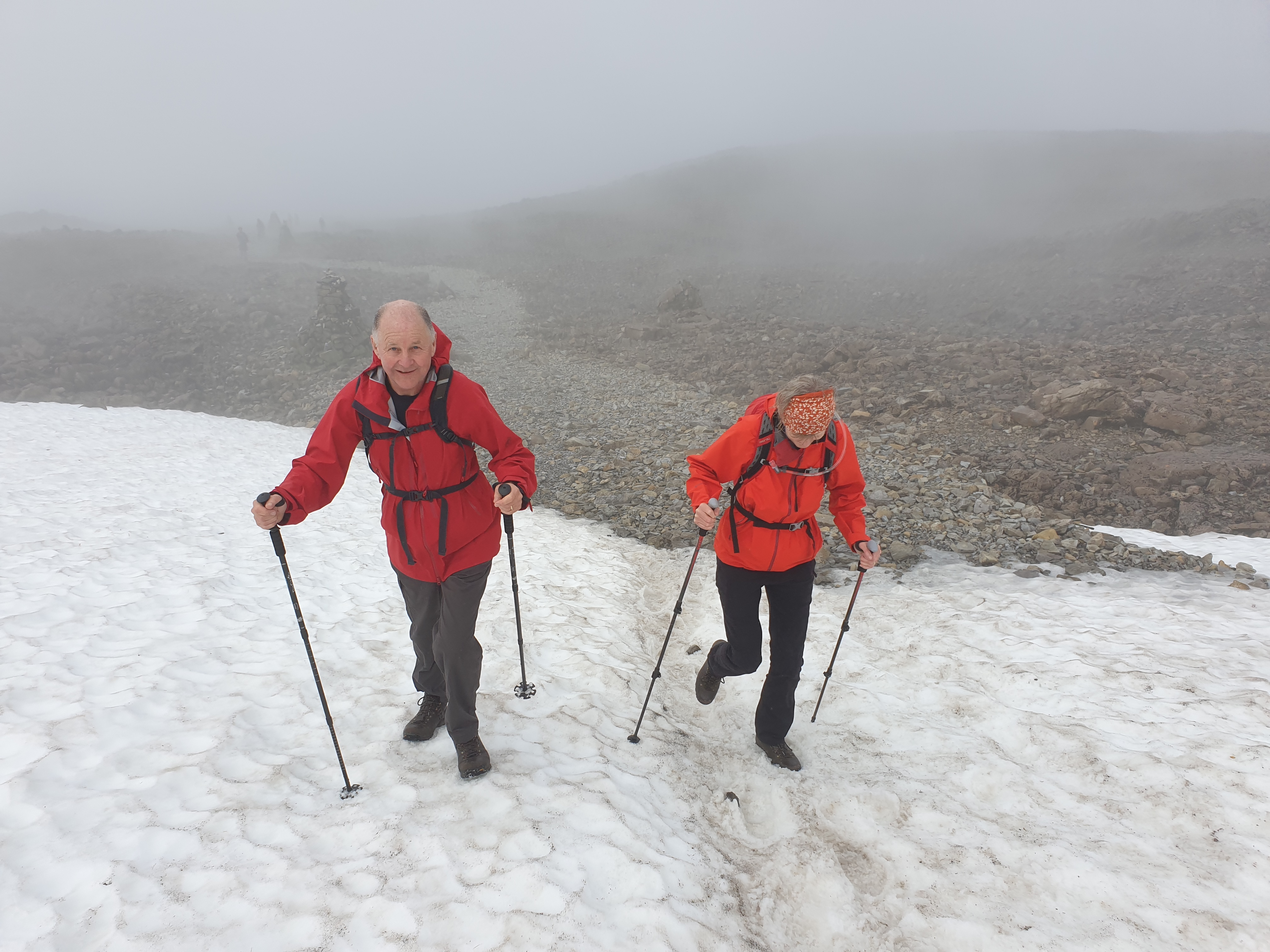 Summer snow on Ben Nevis. Book a Ben Nevis Guide to lead you to the summit