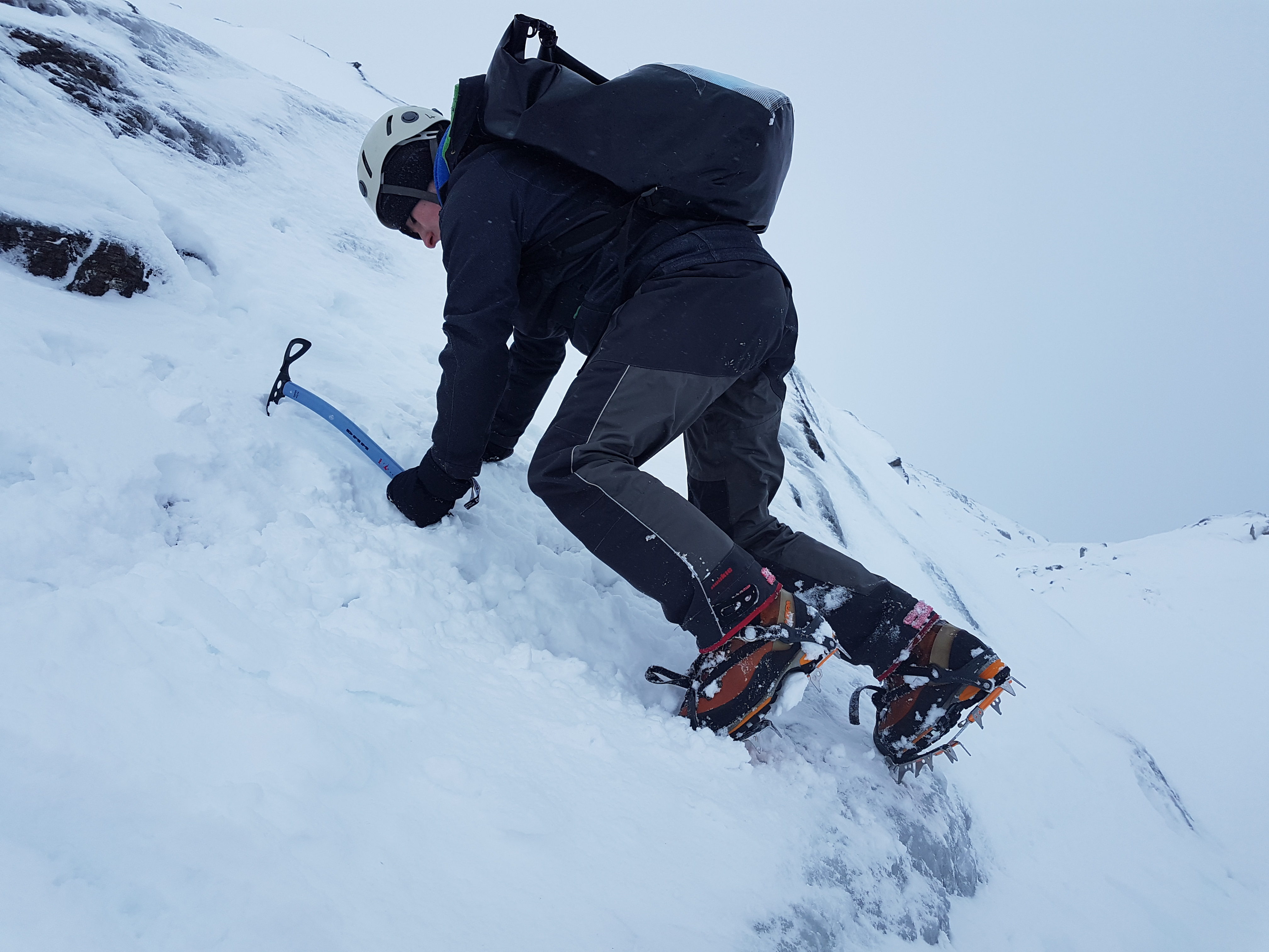 Learning how to use Ice Axe and Crampons