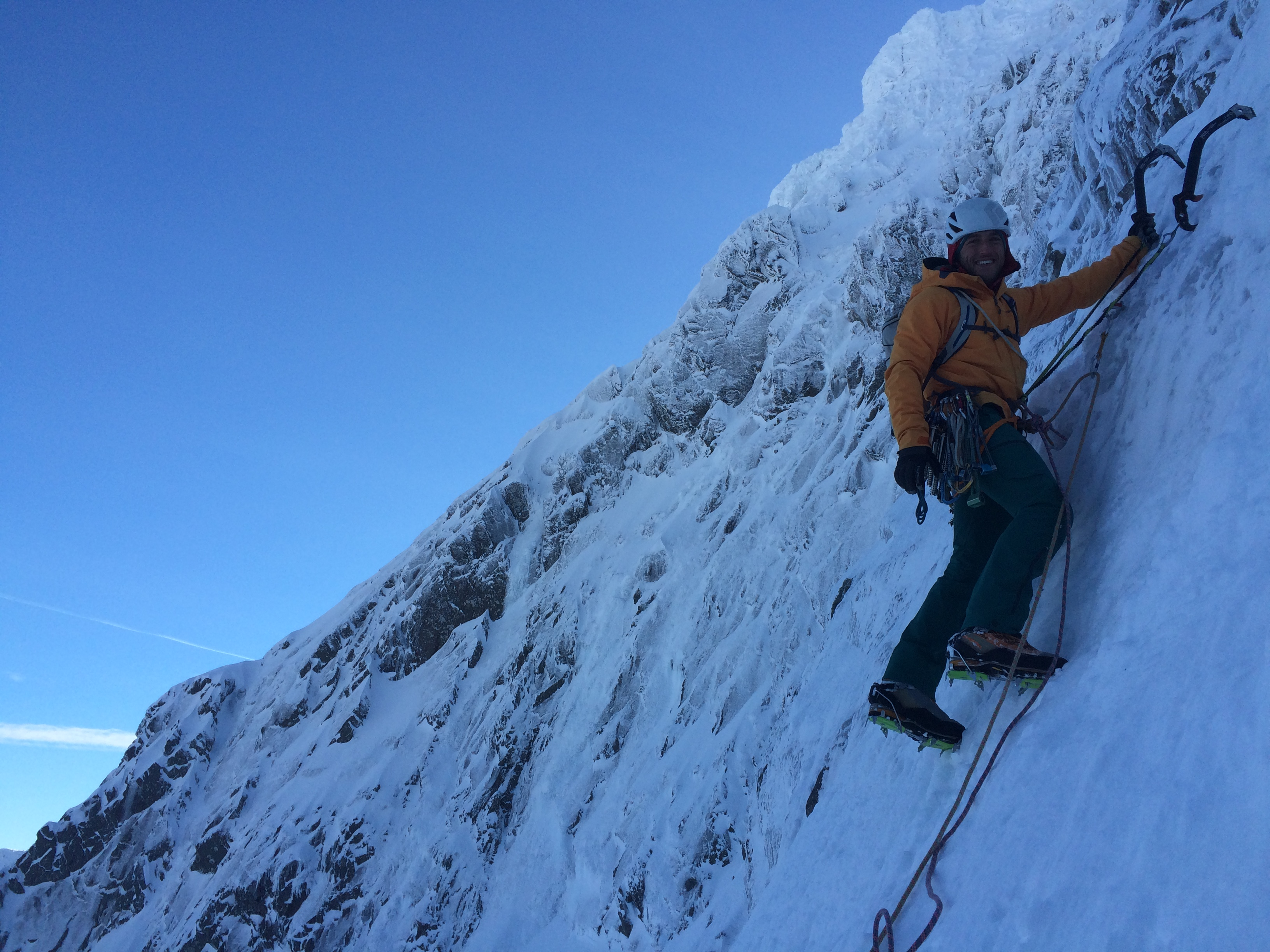 Hire a Winter Climbing Guide on Ben Nevis with Lochaber Guides, Ben Nevis Winter Climbing, Glencoe Winter Climbing, Mountain Guide
