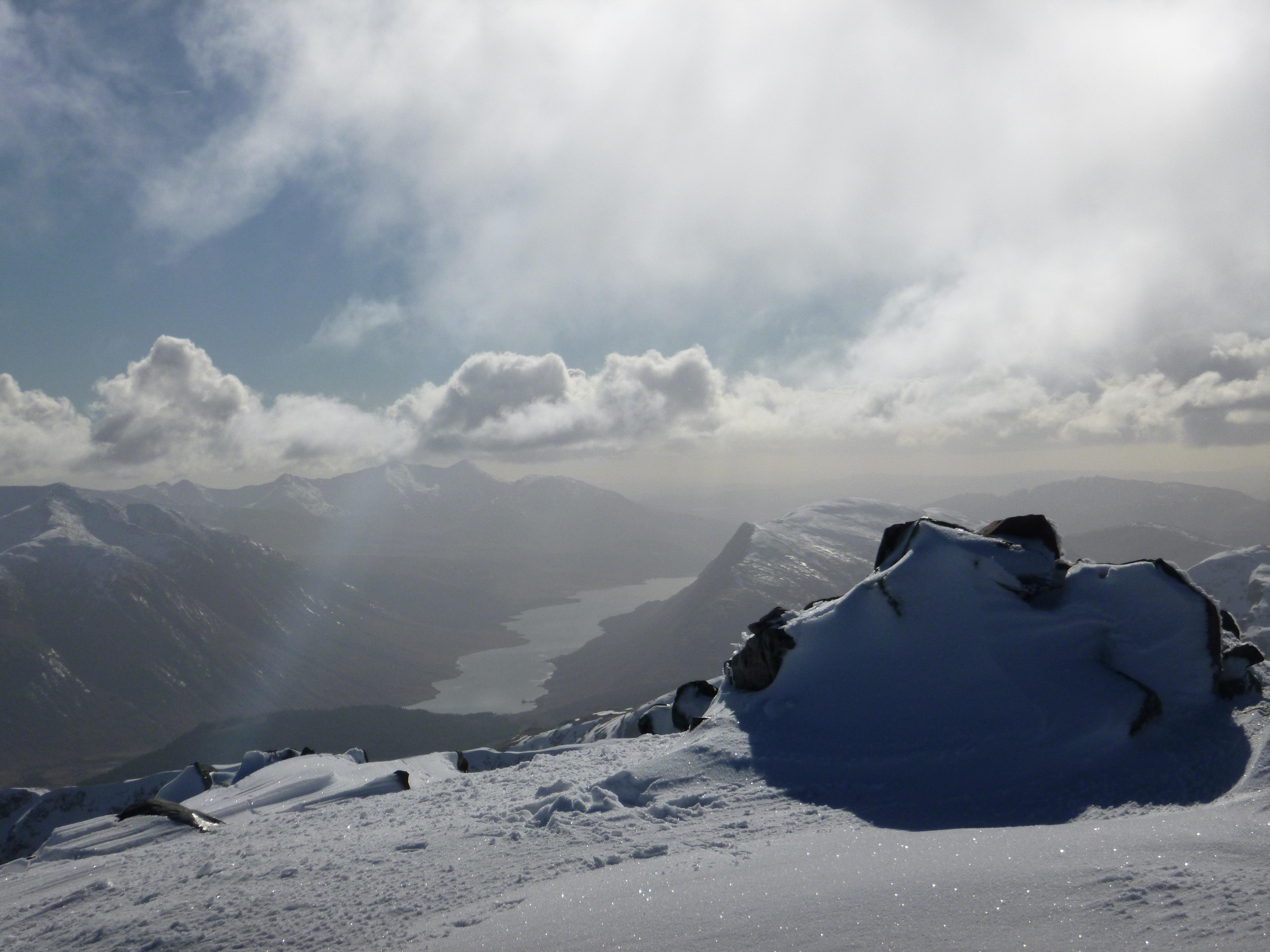 Guided Winter Walking with Lochaber Guides. Carn Mor Dearg Arete in Winter, CMD Winter,  Ben Nevis Winter Skills, Winter Skills Courses in Scotland,