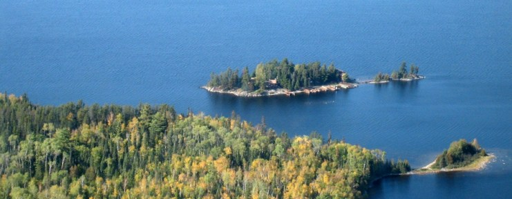 Loch Island Lodge from the Air - Ontario Fishing