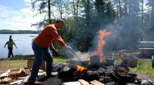 Shore Lunch - Loch Island Lodge - Camp Lochalsh - Ontario Fishing