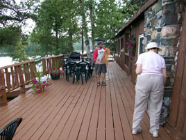 Loch Island Lodge Deck, Ontario Fishing