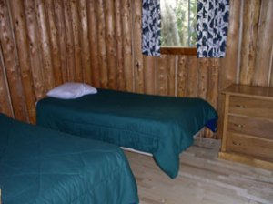 Otter Island Cabin Bedroom - Ontario Canada Fishing Lodge