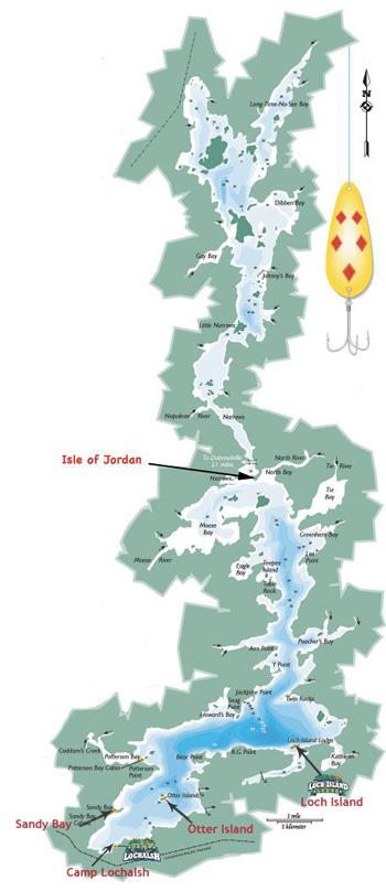 Wabatongushi Lake Map - Ontario, Canada