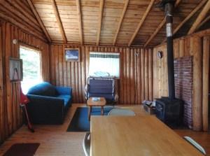 Otter Island Small Cabin Living Room