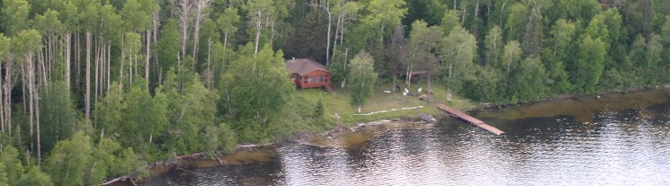 Sandy Bay Cabin from the Air
