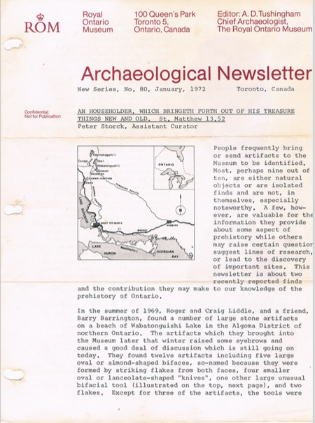 ROM Archaeological Newsletter