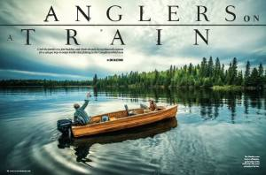 Outdoor Life Magazine April / May Issue - Anglers On A Train