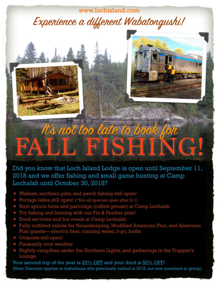 2018 Fall Fishing Promo Flyer