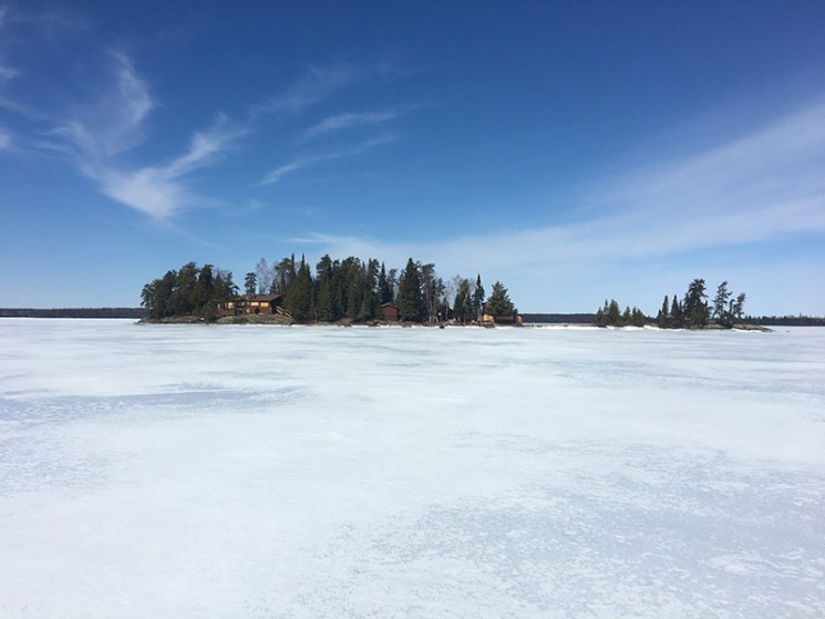 Loch Island, not ready for guests (Ice!) in April 2017