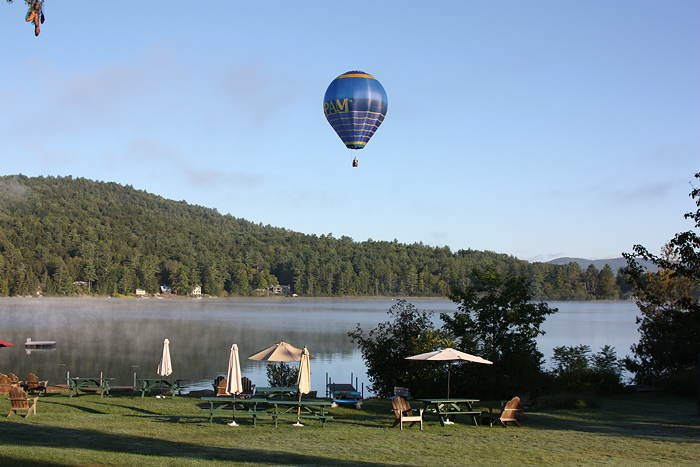 Hot Air Balloon over Post Pond