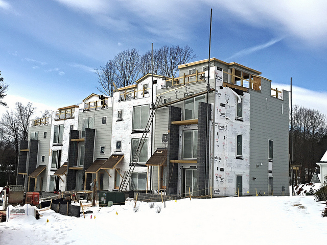 Craig Builders' contemporary townhomes in Lochlyn Hill