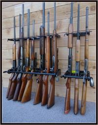 Locking Gun Racks: Vertical Wall MountLocking Wall Gun