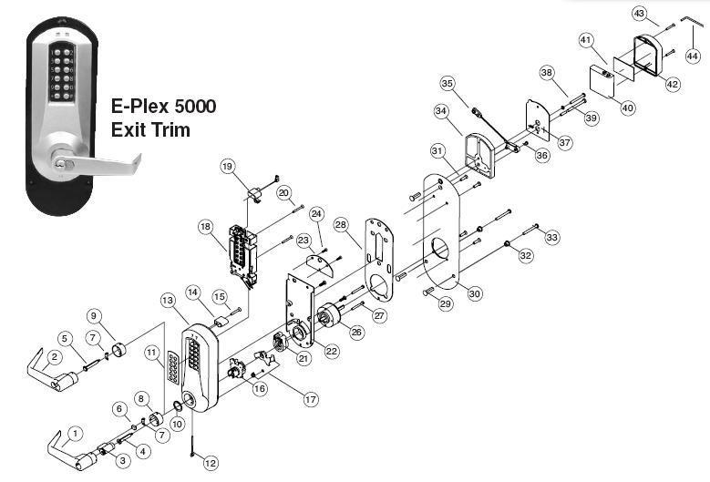 E-PLEX 5010 Parts: Assured Lock Keyless & Locker Lock