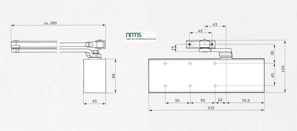 medium resolution of dorma door closer ts 72