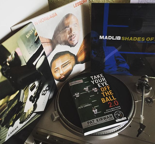 Latest additions #kendricklamar #section80 #madlib #shadesofblue #caponennoreaga #cnn #lessons #vinyl #limited #hhv #americanfootball #nfl #patkirwan #takeyoureyeofftheball #book #dual #vinylplayer #retro