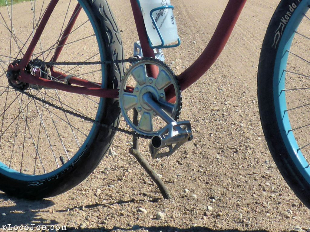 no kickstand? how about a stickstand.