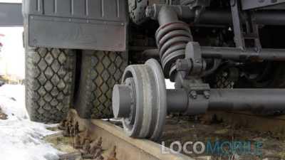 Автокран железнодорожный МАЗ МАШЕКА локомобиль