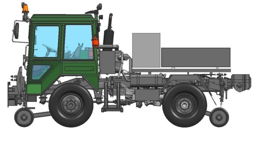 Тяговый модуль вагонов ТМВ маневровый тягач