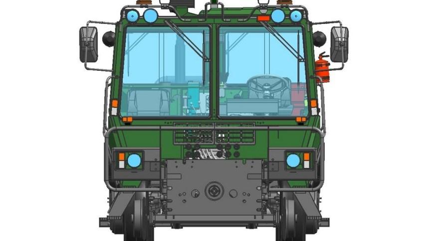 Тяговый модуль вагонов ТМВ вид спереди