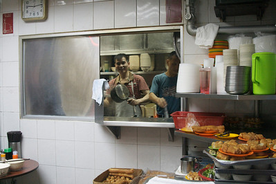 Kitchen of Sang Kee Congee shop