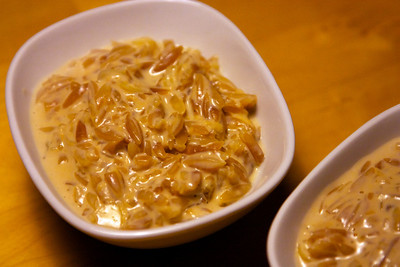 Orzo pudding