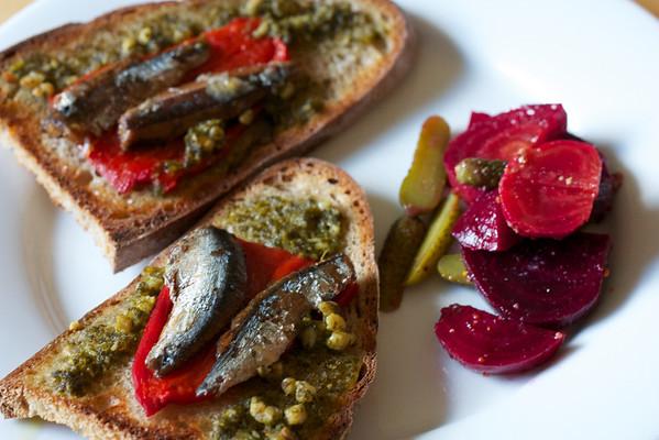 Sardine tartine