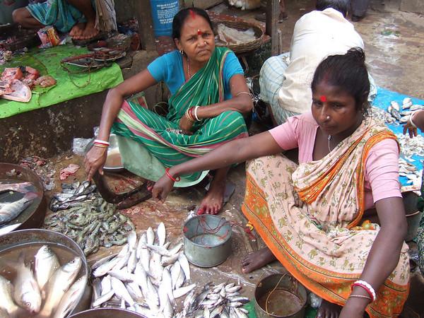 Fish market in Calcutta