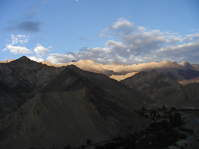 View of Himalayas in Lamayuru