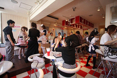 Inside a maid cafe