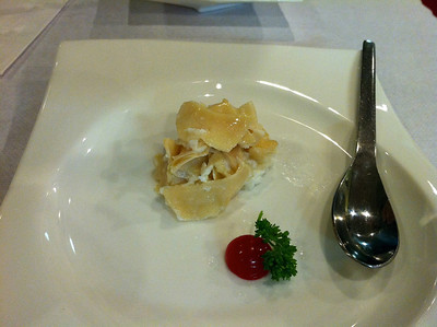 Abalone with egg white